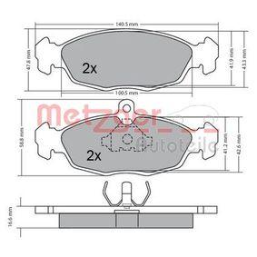 Комплект спирачно феродо, дискови спирачки 1170015 Corsa B Хечбек (S93) 1.2 i (X 12 SZ, C 12 NZ) Г.П. 2000