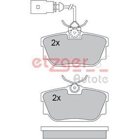 Bremsbelagsatz, Scheibenbremse Breite: 94,8mm, Höhe: 50,6mm, Dicke/Stärke: 16,5mm mit OEM-Nummer 7D0 698 451