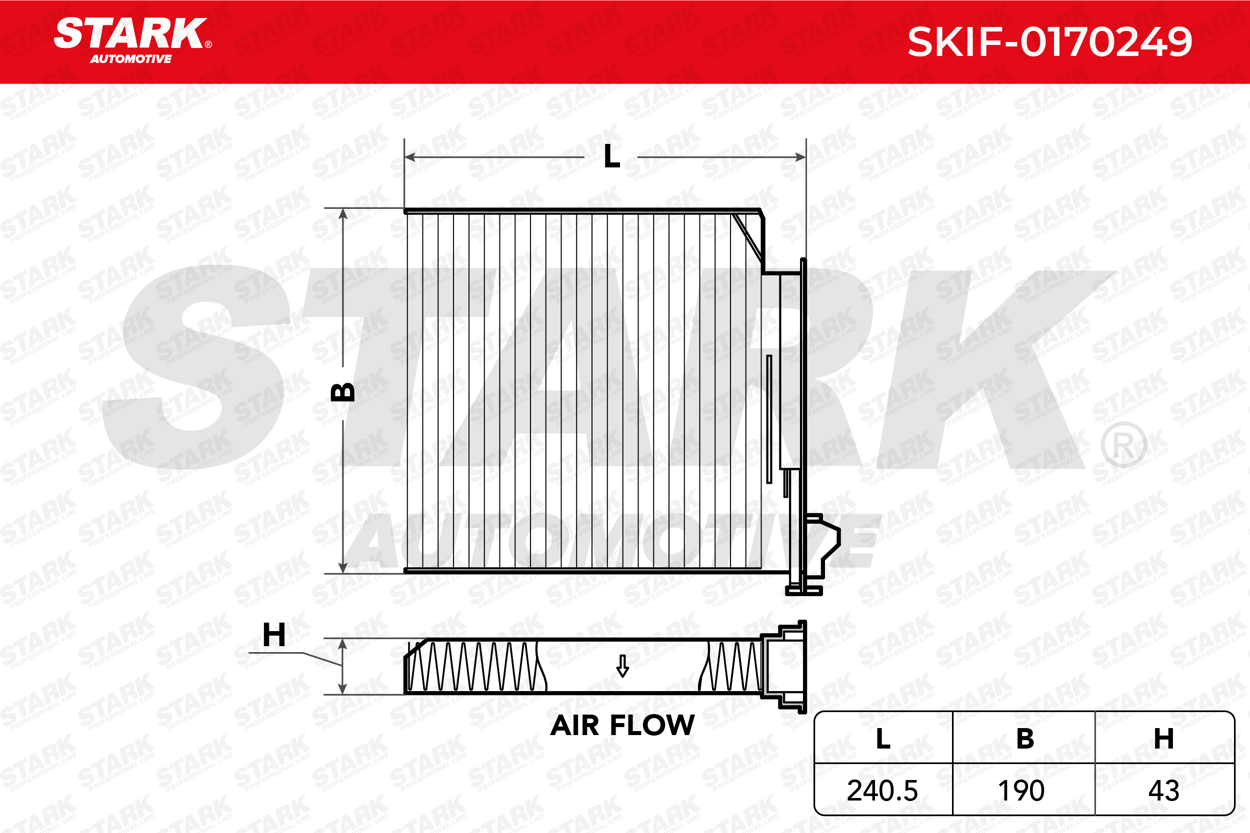 Innenraumfilter SKIF-0170249 STARK SKIF-0170249 in Original Qualität