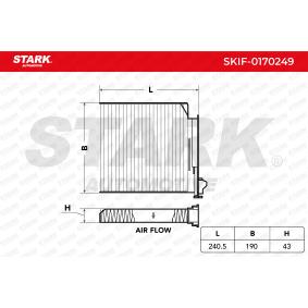 Filter, Innenraumluft SKIF-0170249 TWINGO 2 (CN0) 1.5 dCi Bj 2016