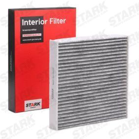 Filter, Innenraumluft Länge: 224mm, Breite: 222mm, Höhe: 35mm mit OEM-Nummer 6447SZ