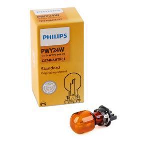 Bulb, indicator Yellow 12V 24W, PWY24W, WP3,3x14,5/4 12174NAHTRC1 FORD KUGA, S-MAX, GALAXY