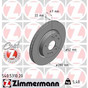 Bremsscheibe Ø: 280mm mit OEM-Nummer 5531161M00