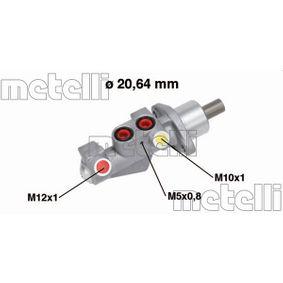 Renault Twingo 2 1.2 Turbo (CN0C, CN0F) Hauptbremszylinder METELLI 05-0750 (1.2 Turbo Benzin 2019 D4F 782)