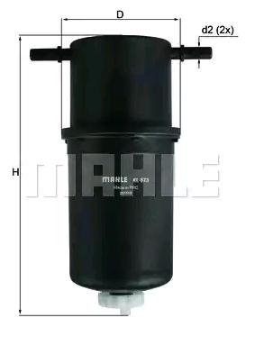 Inline fuel filter MAHLE ORIGINAL 72383457 4009026944189