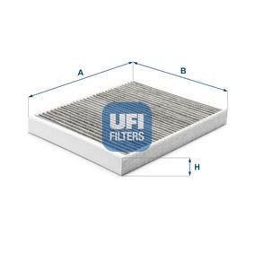 Filter, Innenraumluft Länge: 267mm, Breite: 232mm, Höhe: 30mm mit OEM-Nummer 132114731