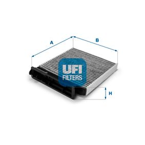 Filter, interior air Length: 185mm, Width: 185mm, Height: 28mm with OEM Number 7711 426 872
