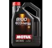 Ostaa edullisesti Moottoriöljyä MOTUL 8100, ECO-NERGY, 0W-30, 5l netistä - EAN: 3374650238012