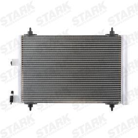 Kondensator, Klimaanlage Netzmaße: 568*361*16, Kältemittel: R 134a mit OEM-Nummer 6455 EX