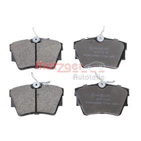 Bremsbelagsatz, Scheibenbremse Breite: 94,8mm, Höhe: 57mm, Dicke/Stärke: 16,5mm mit OEM-Nummer 7D0698451