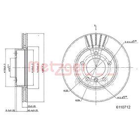 Bremsscheibe Bremsscheibendicke: 22mm, Lochanzahl: 5, Ø: 285,8mm mit OEM-Nummer 6864060