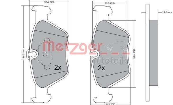 Bremsbeläge 1170086 METZGER 21990 in Original Qualität