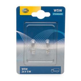 Bulb, indicator W5W, W2,1x9,5d, W2,1x9.5d, W2,1x9,5 d, 24V, 5W 8GP 003 594-258