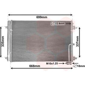 VAN WEZEL  03005368 Kondensator, Klimaanlage Netzmaße: 650x443x17
