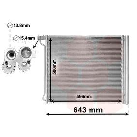 VAN WEZEL  06005474 Kondensator, Klimaanlage Netzmaße: 566x500x17