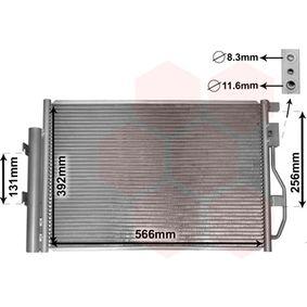 VAN WEZEL  08005048 Kondensator, Klimaanlage Netzmaße: 565x395x16
