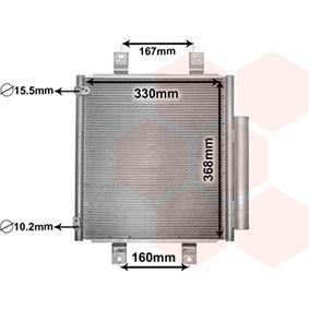 VAN WEZEL  11005076 Kondensator, Klimaanlage Netzmaße: 330x368x16