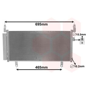 Kondensator, Klimaanlage mit OEM-Nummer 73210-SG000