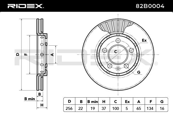 RIDEX Art. Nr 82B0004 günstig