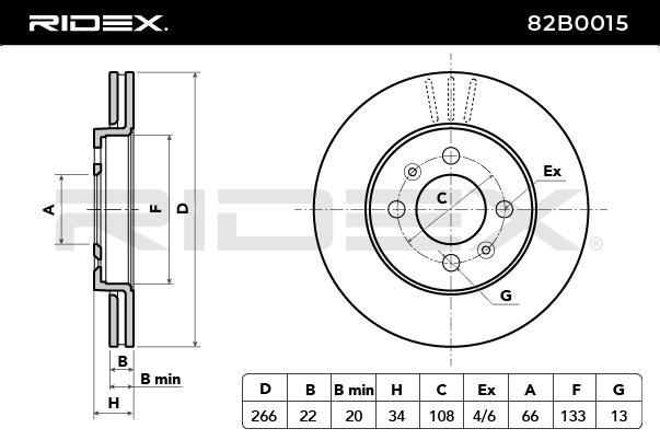 82B0015 RIDEX del fabricante hasta - 25% de descuento!