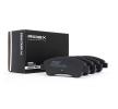 Спирачки RIDEX Комплект спирачно феродо, дискови спирачки предна ос, не е за подготвен за предупредителен датчик за износване