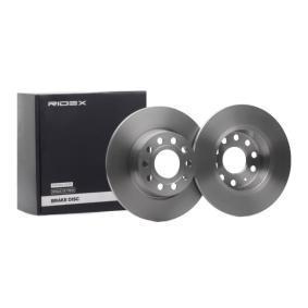 RIDEX Bremsscheibe 82B0342 für AUDI A3 (8P1) 1.9 TDI ab Baujahr 05.2003, 105 PS
