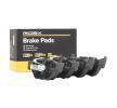 RIDEX Brake pad set BMW Rear Axle, prepared for wear indicator