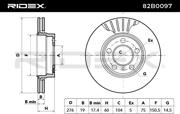 82B0097 RIDEX mit 26% Rabatt!