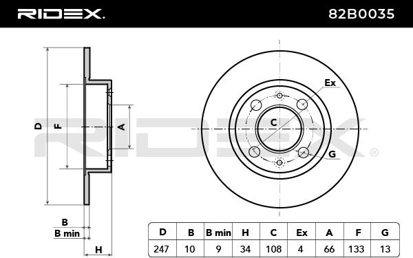 82B0035 RIDEX mit 29% Rabatt!