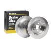 Brake disc kit TOYOTA AVENSIS (T25_) 2008 year 7999203 RIDEX Rear Axle, Solid
