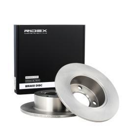 RIDEX Bremsscheibe 82B0036 für AUDI 100 (44, 44Q, C3) 1.8 ab Baujahr 02.1986, 88 PS