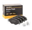 OEM Bremsbelagsatz, Scheibenbremse 402B0066 von RIDEX für BMW