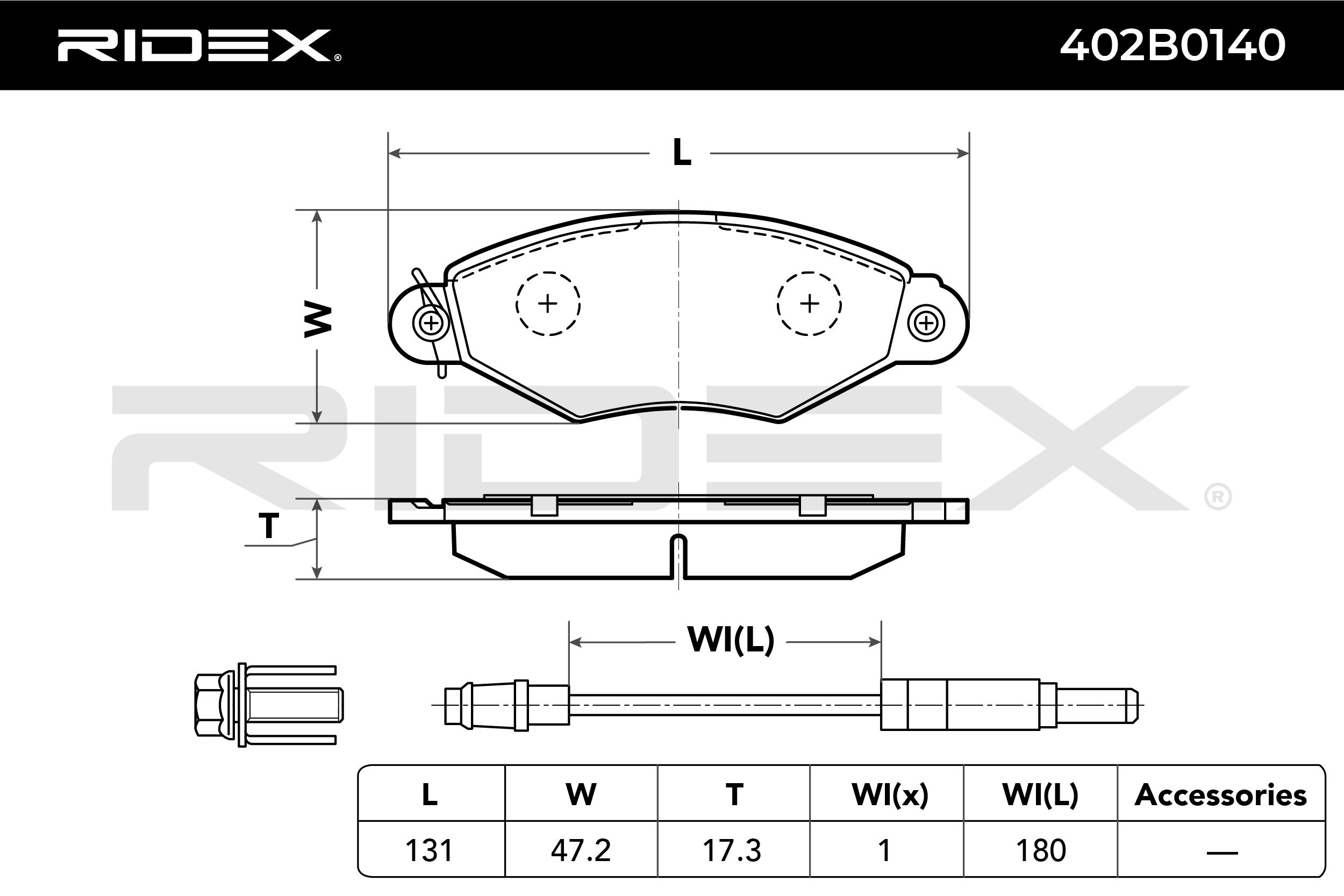 RIDEX Art. Nr 402B0140 günstig