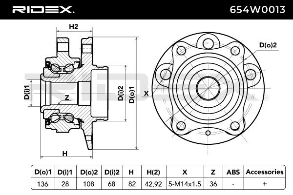 RIDEX Art. Nr 654W0013 günstig