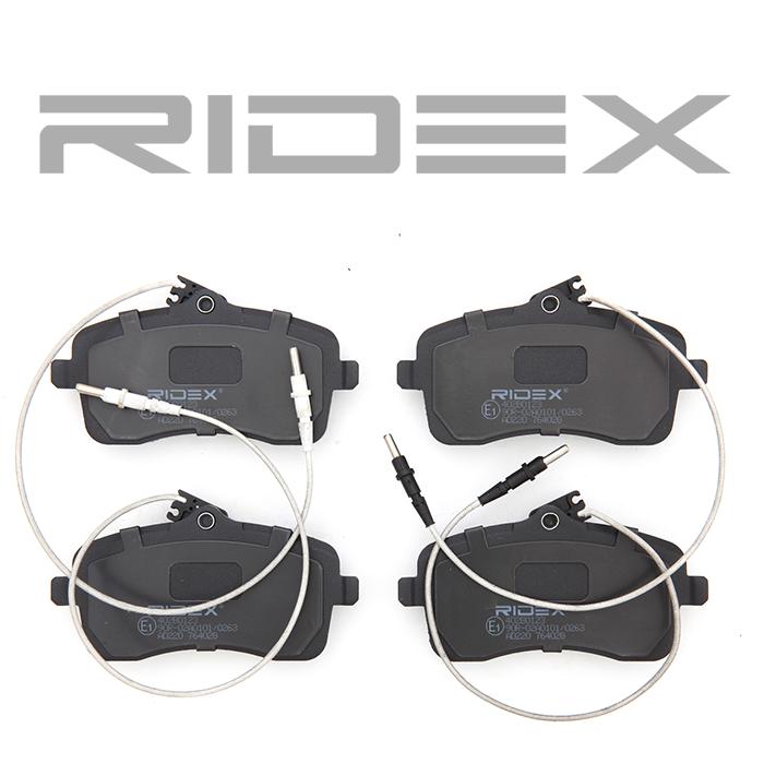 Bremsklötze RIDEX 402B0123 4059191319817