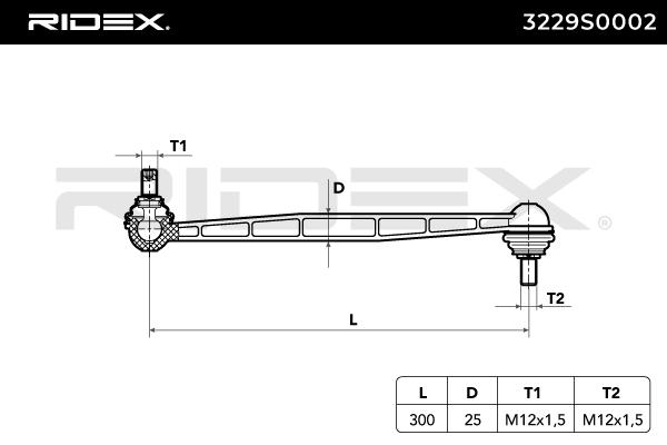 Sway Bar Link RIDEX 3229S0002 rating