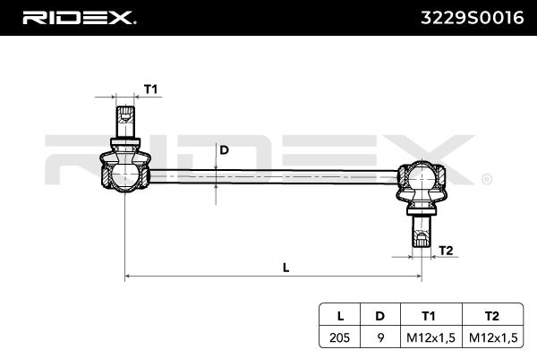 Pendelstütze RIDEX 3229S0016 Bewertung