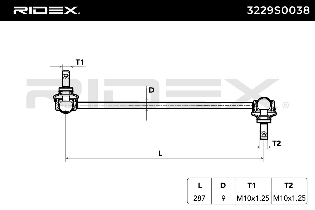 Artikelnummer 3229S0038 RIDEX Preise
