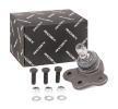 RIDEX Kit de montagem da rótula de suspensão Eixo dianteiro, em baixo, de ambos os lados, com acessórios