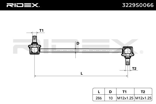 Barra estabilizadora RIDEX 3229S0066 evaluación