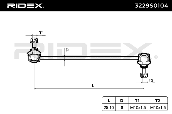 Pendelstütze RIDEX 3229S0104 Bewertung