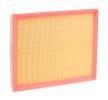 Filtro de aire 8A0005 RIDEX Cartucho filtrante Long.: 294mm, Ancho: 234mm, Altura: 42mm