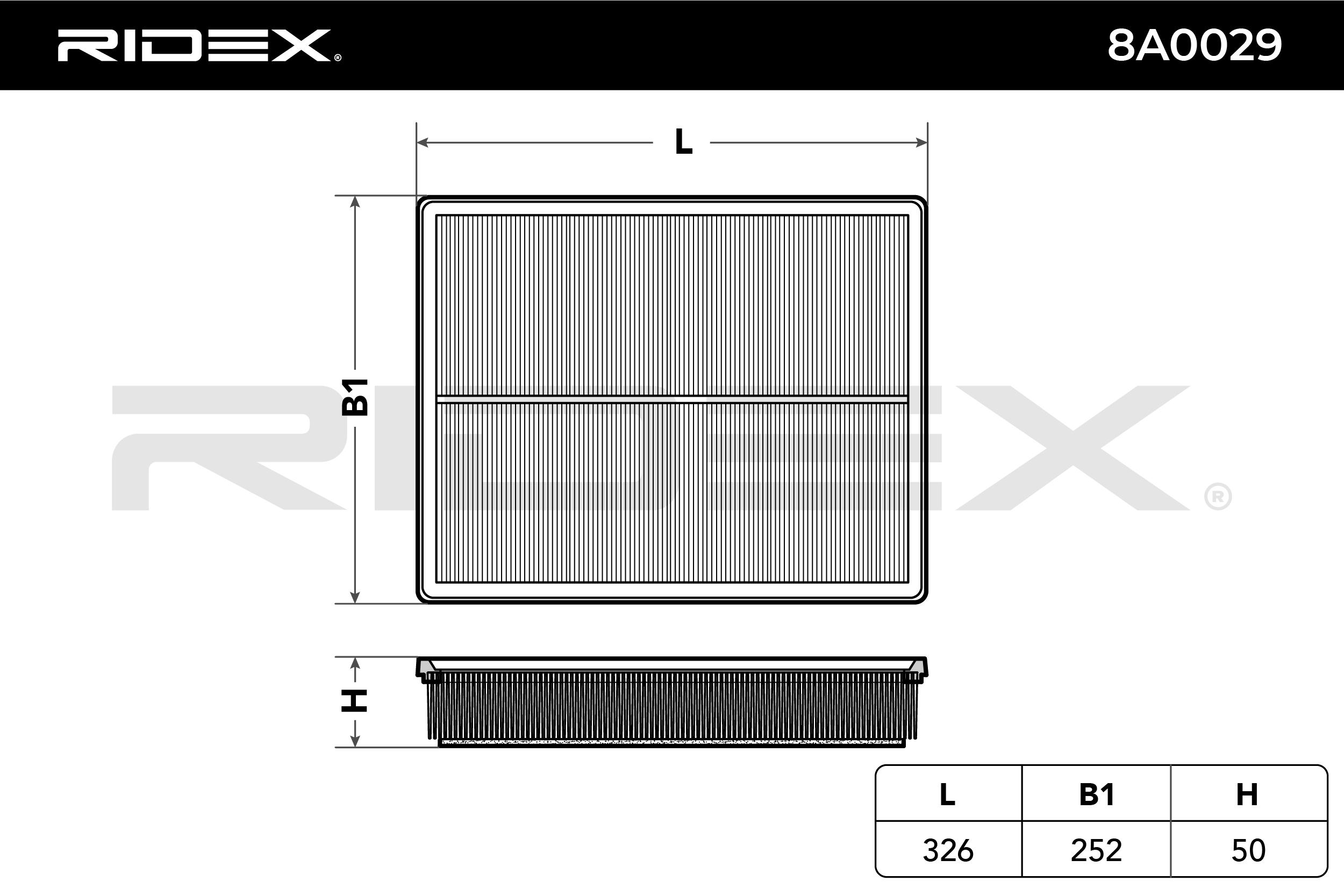 Filter RIDEX 8A0029 4059191329243