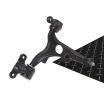RIDEX Brazo oscilante PEUGEOT derecha, Eje delantero, Brazo oscilante transversal