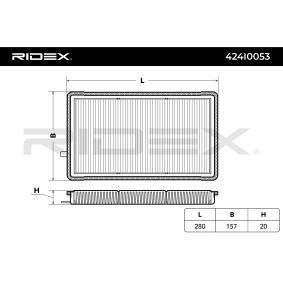 Filtro, aire habitáculo 424I0053 3 Compact (E36) 316i 1.9 ac 1998