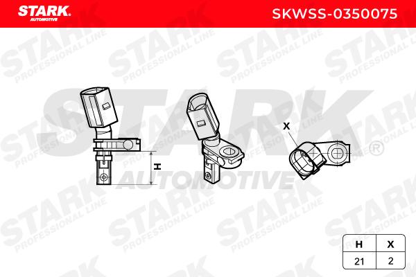 Sensor, wheel speed STARK SKWSS-0350075 4059191333370