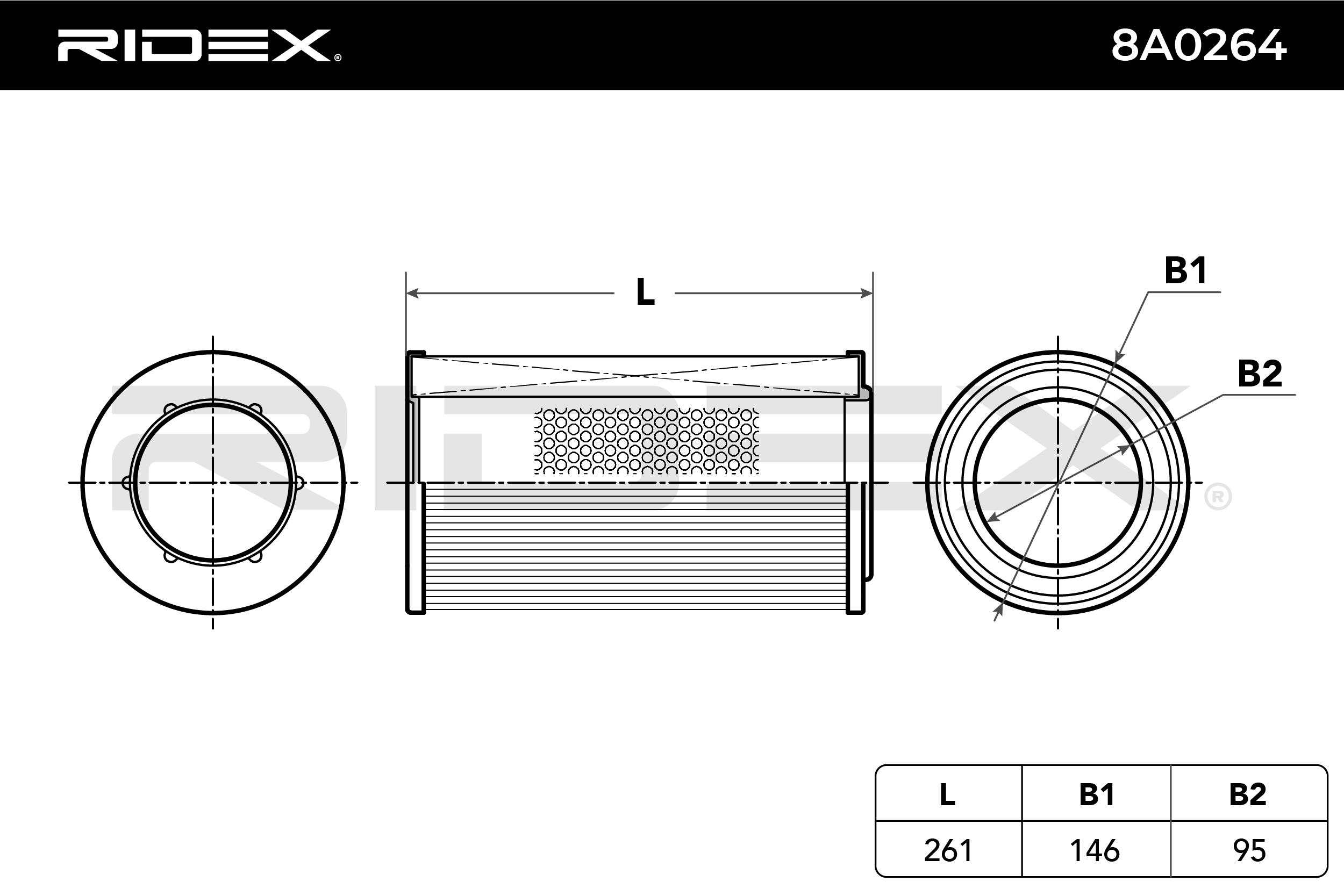 Filter RIDEX 8A0264 4059191333653