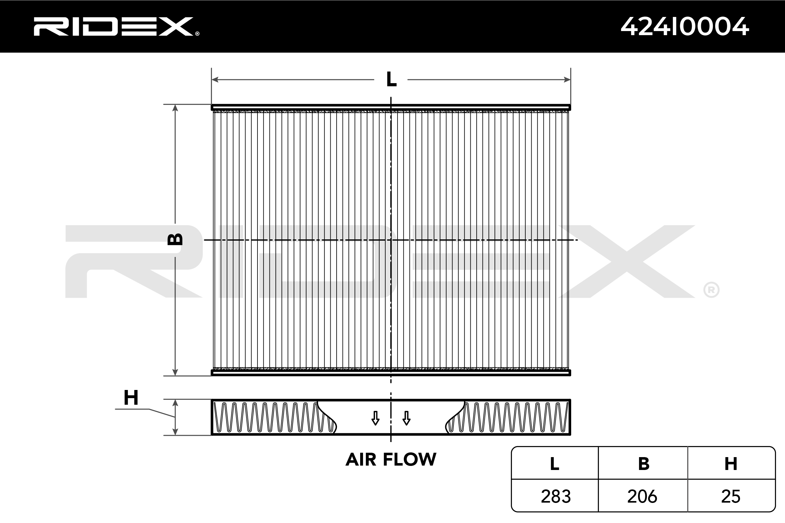 Cabin Air Filter RIDEX 424I0004 expert knowledge
