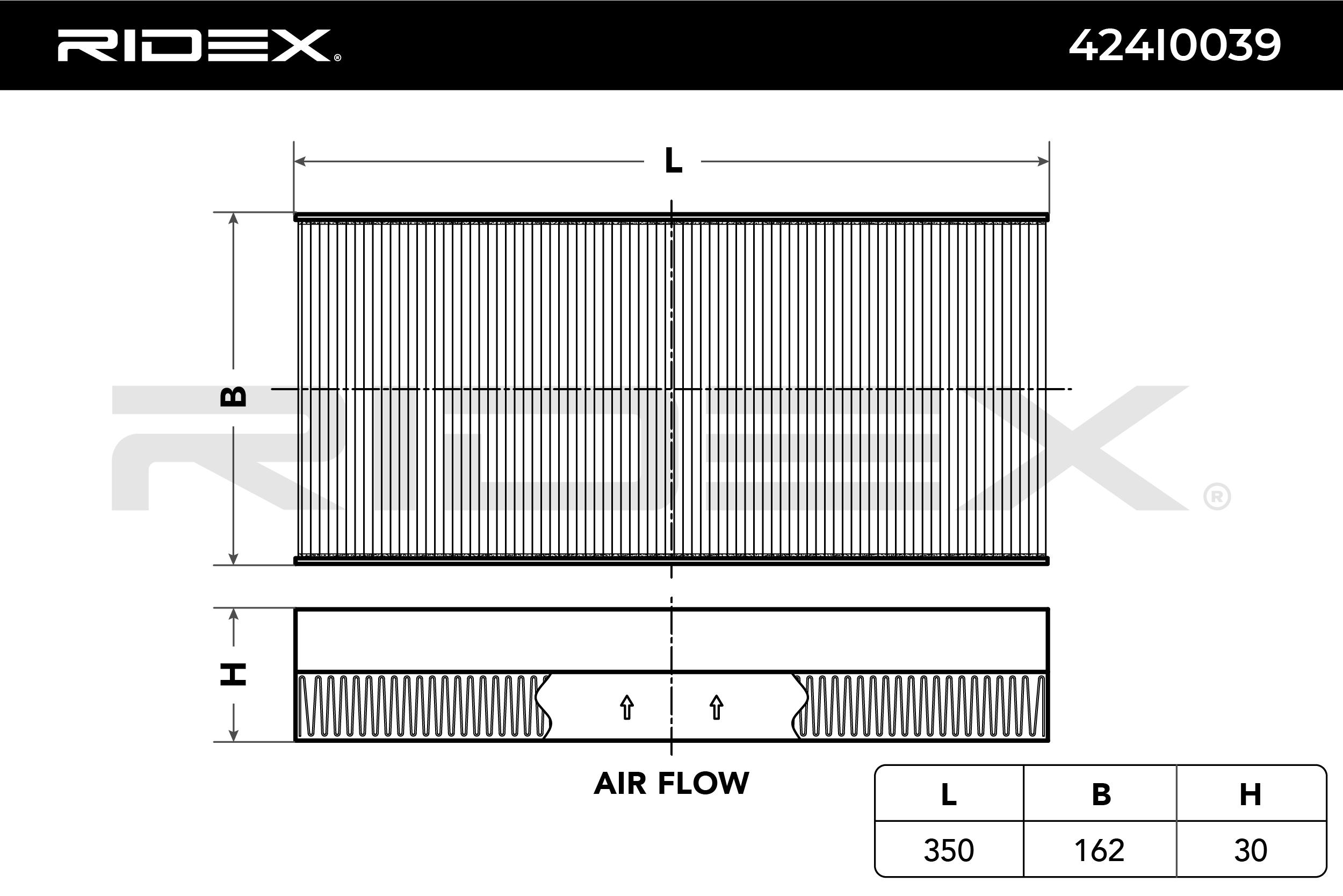 Innenraumfilter 424I0039 RIDEX 424I0039 in Original Qualität