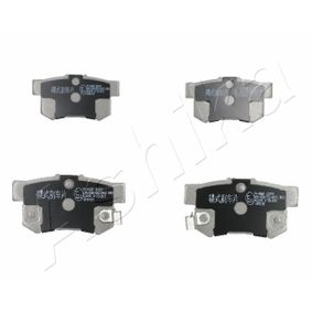 Brake Pad Set, disc brake Height: 47,2mm, Thickness: 14mm with OEM Number 06430S9AA00